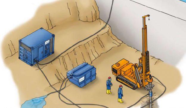Wasserbetriebene Imlochhämmer von Wassara in das Produktprogramm aufgenommen