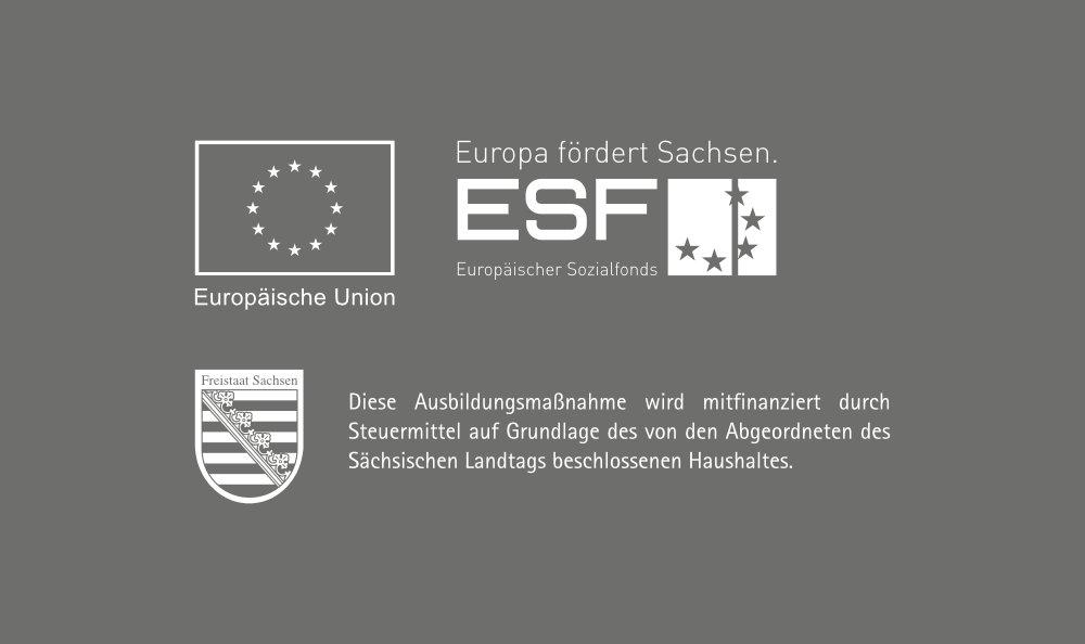 Wir bilden aus und die EU und das Land Sachsen unterstützen dabei!