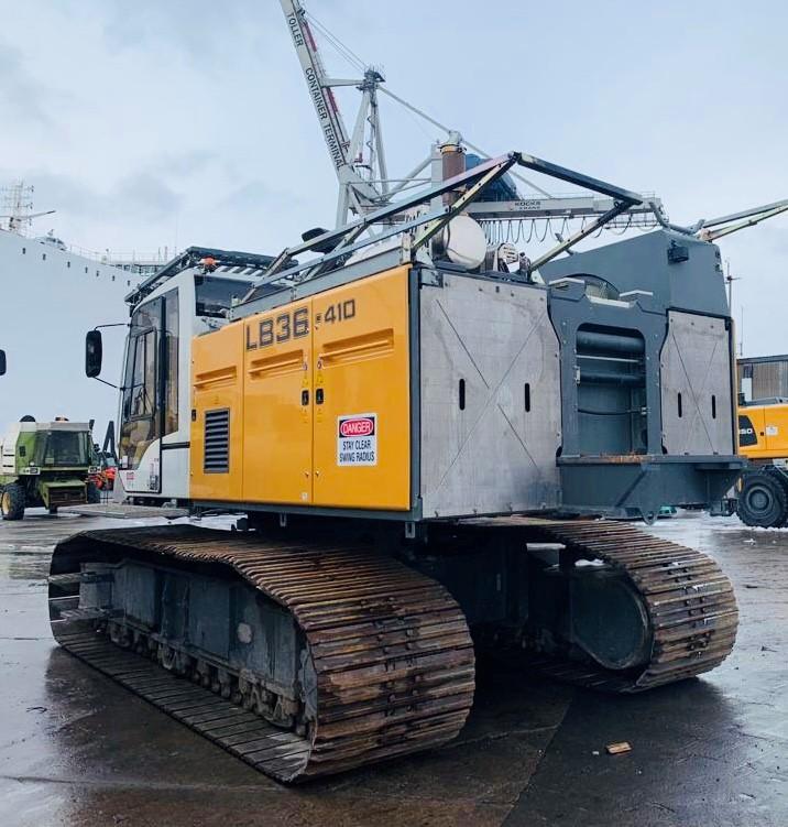 Liebherr LB36-410 nach Kanada verkauft und im Mietpark in Hainichen wieder ersetzt