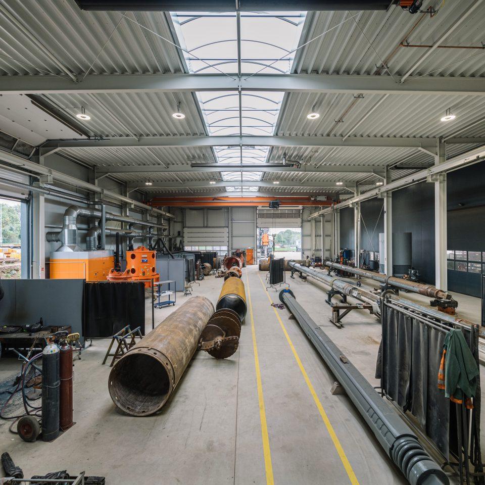 Neue Werkstatthalle in Benutzung – mehr Platz für guten Service